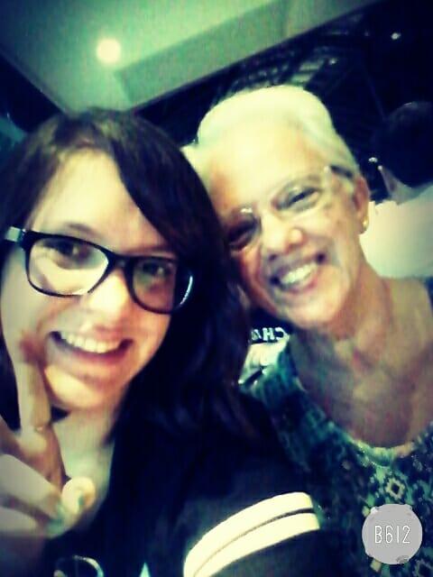Eu E A Minha Avó, À Caminho Do Aeroporto