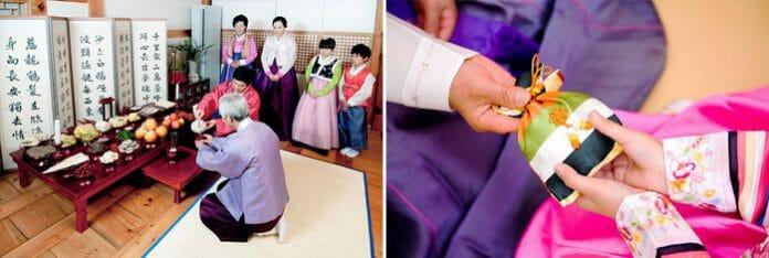 Ritual Do Charye (Esquerda)/Sebaetdon (Saquinhos De Dinheiro) Que São Dados Como Presente No Seollal (À Direita). Foto: Imagine Your Korea