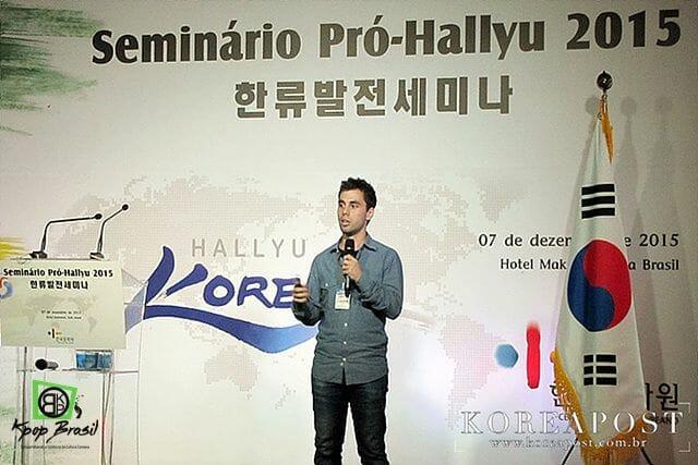 Lucas Em Palestra Sobre A Cultura Hallyu No Brasil.