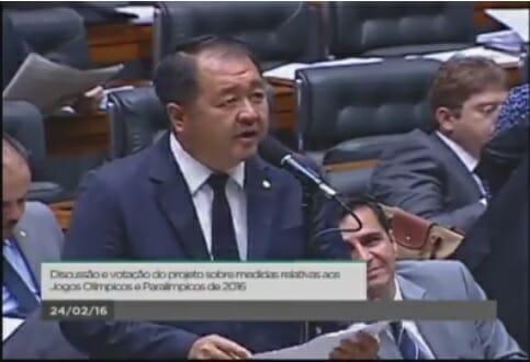 Deputado Federal William Woo Em Discurso Na Câmara Dos Deputados Sobre A Paz Entre As Coreias.