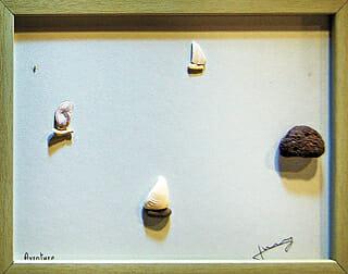 Arte De Nico Jerry, &Quot;Aventura&Quot; Foi Feita De Seixos E Conchas Que O Artista Coletou Em Icheon. Foto: Jim Min-Ji