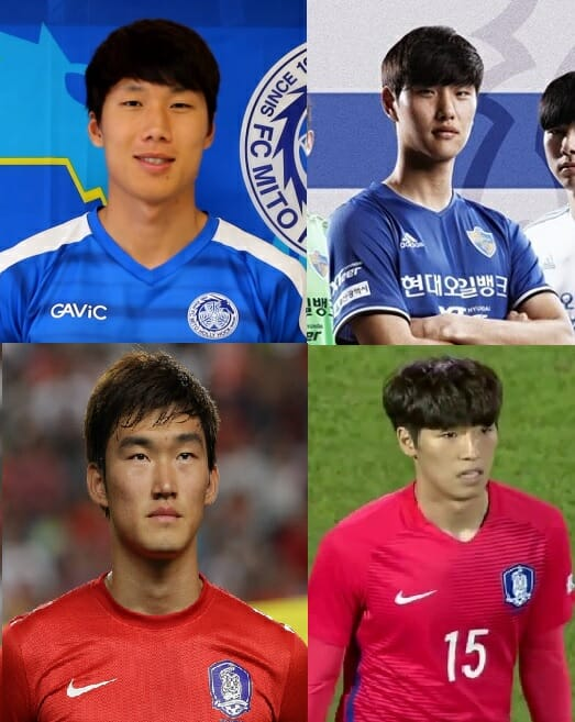 Defesa: Song Ju-Hun, Jung Seung-Hyun , Jang Hyun-Soo E Choi Kyu-Baek. (Fonte: Google)