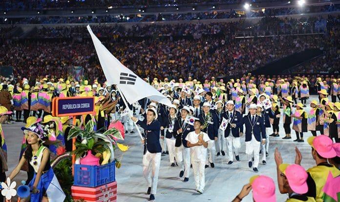 A Delegação Da Coreia Do Sul Entra No Maracanã No Dia 5 De Agosto 2016, Durante A Cerimônia De Abertura Do 31º Jogos Olímpicos, No Rio De Janeiro. ( Fonte: Korea.net)