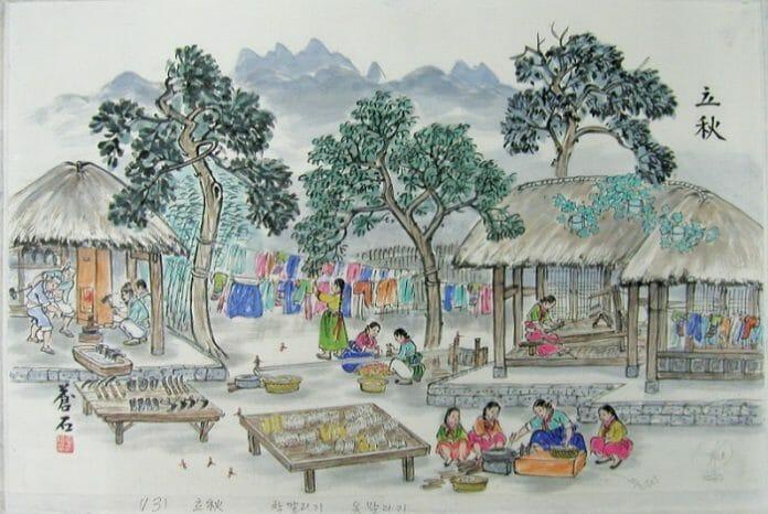 Ipchu (입추, 立秋) Marca O Início Tradicional Do Outono Para As Antigas Comunidades Agrárias. As Tardes Começam A Esfriar E Repolhos E Rabanetes São Plantados Para O Kimchi Do Próximo Inverno.