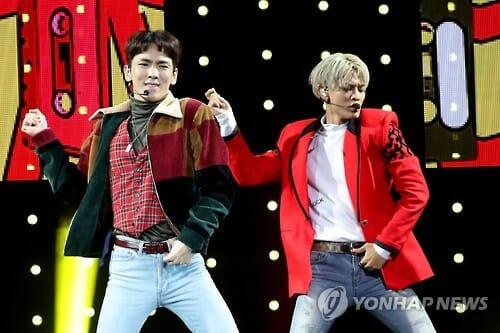 Key E Minho Se Apresentando No Showcase De Lançamento Do Álbum 1 Of 1. Foto: Yonhap