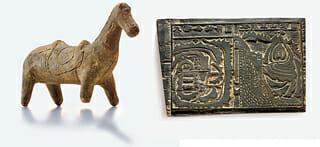Há Relíquias Em Exibição - Uma Estatueta De Um Cavalo Sagrado Imaginário Conhecido Como Guksimal E