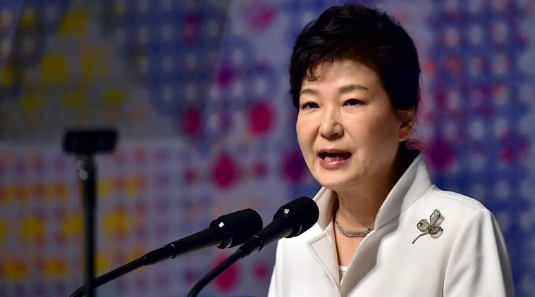 File Photo: South Korean President Park Geun-Hye Delivers A Speech During A Ceremony To Mark The Anniversary Of The 1919 Independence Movement Against Japanese Rule Over The Korean Peninsula, In Seoul March 1, 2016. Reuters/Jung Yeon-Je/Pool/File Photo