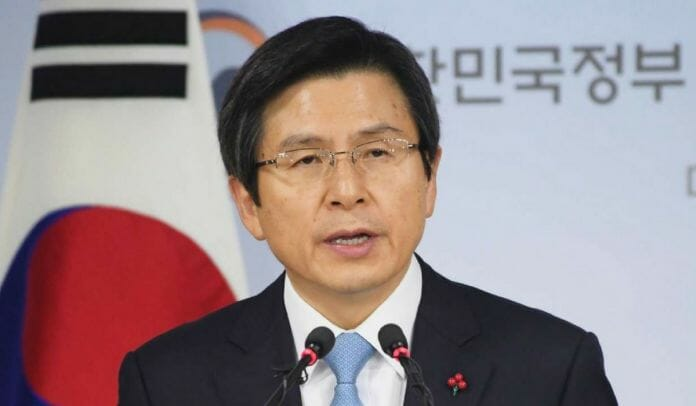 O Primeiro Ministro E Chefe De Estado Provisório Hwang Kyo-Ahn. Foto: South China Morning Post