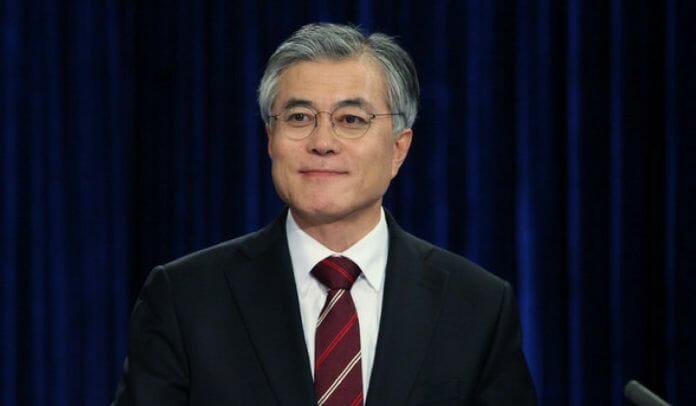 Moon Jae-In, Por Enquanto, O Candidato A Próximo Presidente Com Maior Porcentagem De Apoio.