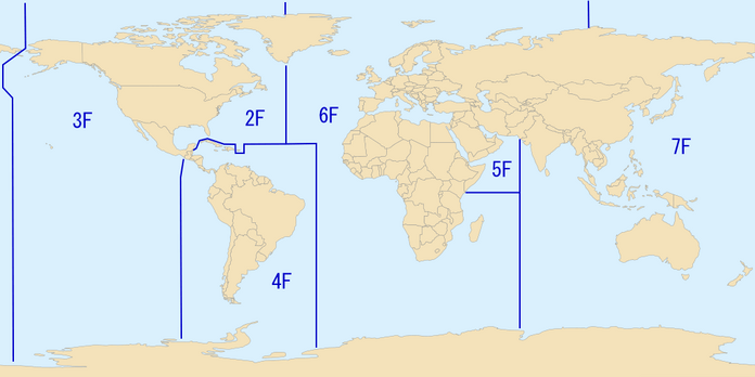 Áreas De Responsabilidade Das Esquadras Da Marinha Dos Eua.
