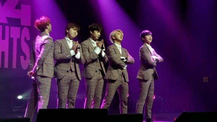 Show Do B1A4 Em Fevereiro De 2017. Foto: Youtube