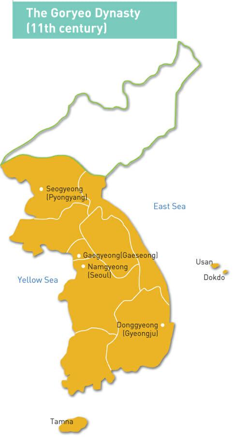 Mapa De Goryeo. Fonte: Ancient.eu