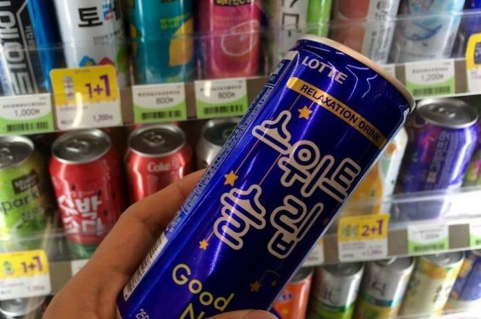 Nova Bebida Chamada De &Quot;Drink De Relaxamento&Quot; Da Lotte. Foto: Korea Exposé.
