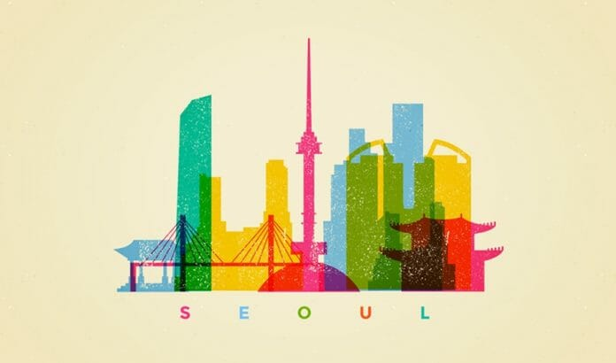 Colorful Seoul Skyline | Free Vector By Vexels