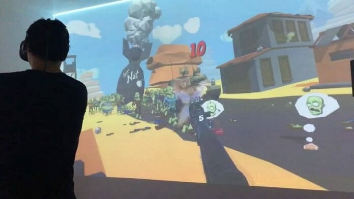 Jogo De Realidade Virtual. Foto: Ytiming