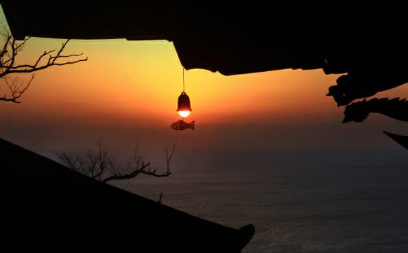 Amanhecer Visto Do Templo Hyangiram. Foto: Yeosu City Site Oficial.
