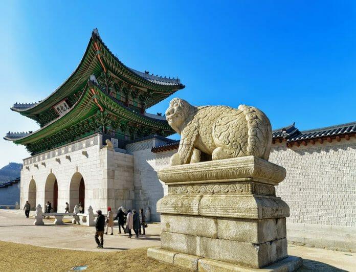 Haetae, Criatura Mitológica Na Entrada Do Palácio Gyeongbokgung. (Foto: Kobiz Media)