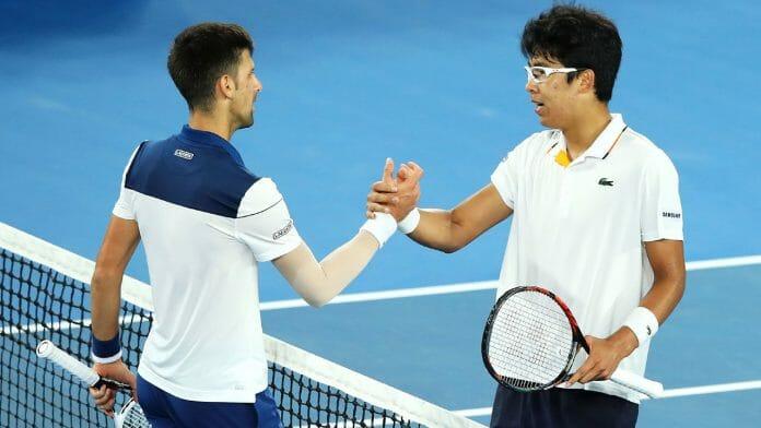 Novak Djokovic E Chung Hyeon.