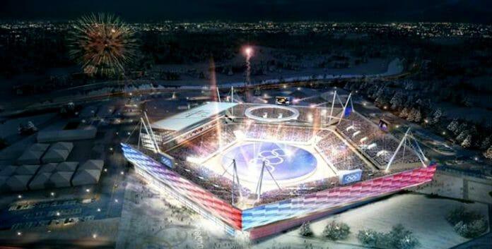 Estádio Olímpico De Pyeongchang, Que Foi Construído Para As Cerimônias Em Meio A Controvérsias Por Causa De Sua Localização Em Meio A Uma Cadeia De Montanhas. Foto: Site Oficial Pyeongchang 2018