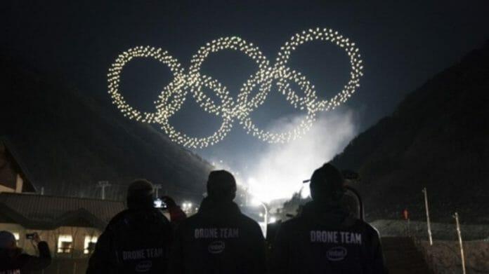 Espetáculo Com Drones Na Abertura Das Olimpíadas. Imagem: Korea Bizwire