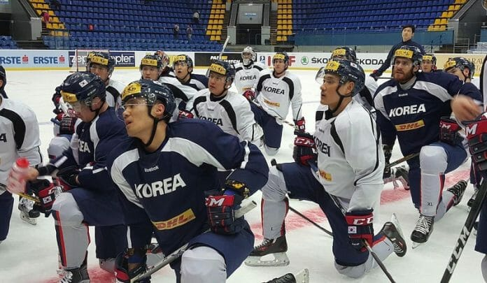 Time De Hockey Da Coreia Do Sul