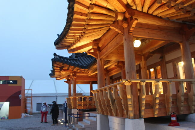Traditional Culture Pavilion &Amp; Traditional Culture Plaza In The Pyeongchang Olympic Plaza In Daegwallyeong-Myeon, Gangwon Province (Imagem: Yoon Min-Sik/The Korea Herald)