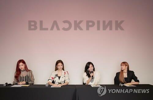 Blackpink Em Coletiva De Imprensa No Dia 15 De Junho De 2018. Foto: Yonhap / Yg Ent.