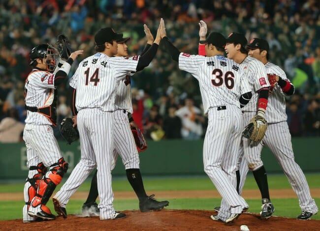 O Time De Baseball Lotte Giants. Foto: Korea Herald