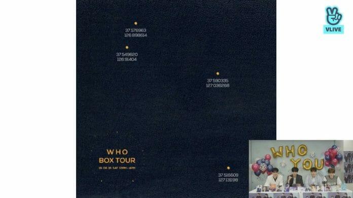 Coordenadas Dos Locais Em Que O Grupo Se Apresentou Na Who Box Tour
