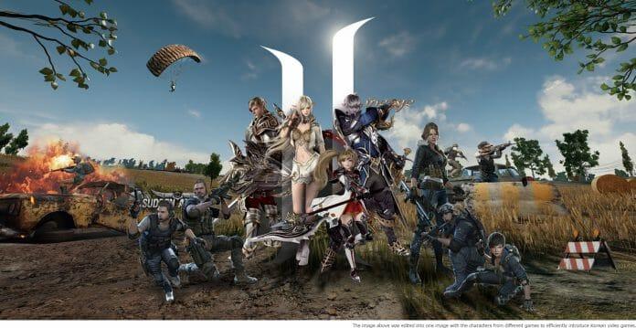 Imagem Editada Com Diferentes Personagens De Jogos Coreanos.