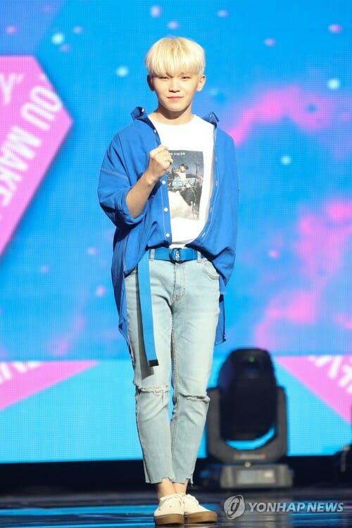 Woozi Durante O Lançamento Do Novo Álbum. Foto: Yonhap