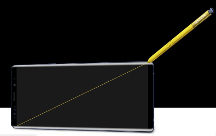 Tela 6,4 Polegadas Do Galaxy Note 9 Fonte: [Https://Www.samsung.com/Br/Smartphones/Galaxy-Note9/Design/]