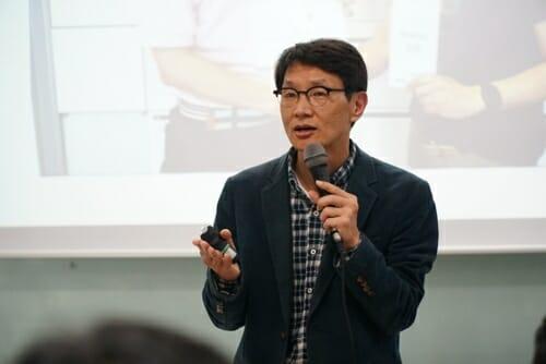 Kim Hyejoon Em Palestra Pelo Movimento Pais Envolvidos Na Coreia. Foto: Arquivo Pessoal