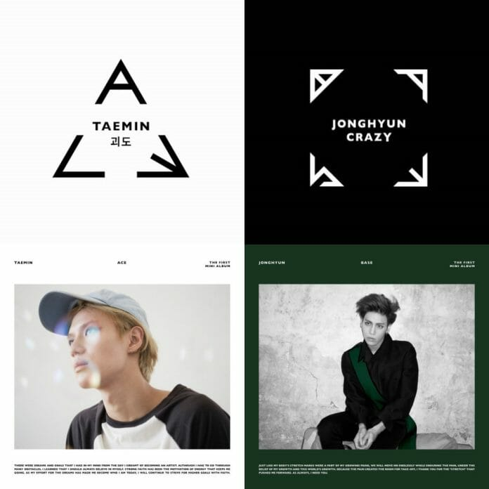Ace Primeiro Mini Álbum De Taemin E Base - Primeiro Mini Álbum De Jonghyun. Foto: Sm Entertainment