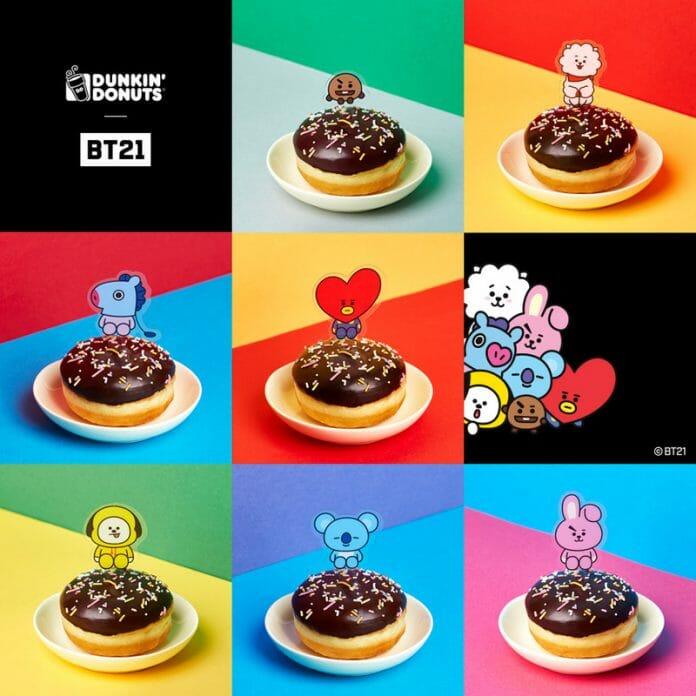 Rosquinhas Criadas Para A Colaboração Da Franquia Dunkin' Donuts E O Bts. Foto: Promoção   Dunkin' Donuts