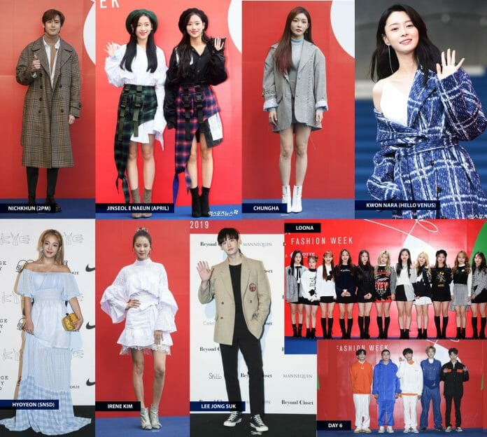 Famosos No Tapete Azul Da Seul Fashion Week. Fotos: Soompi