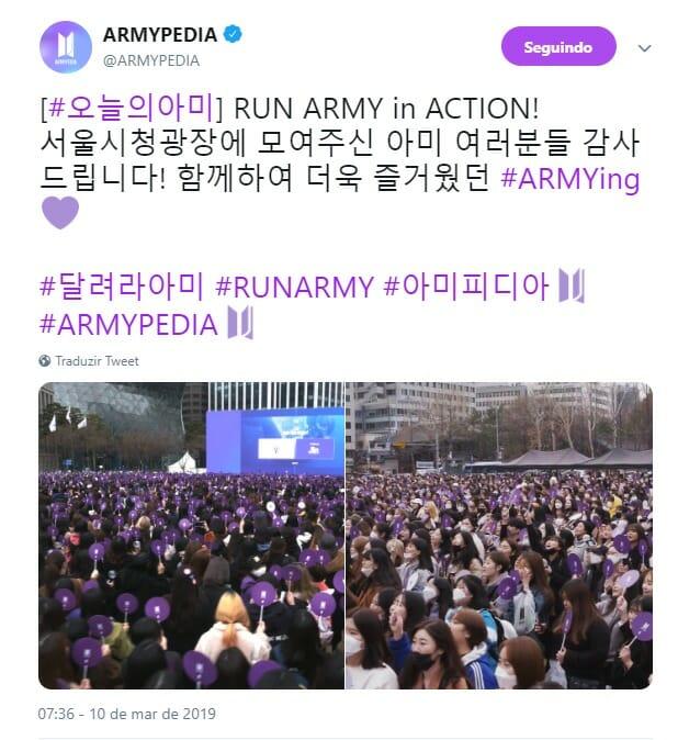 Run Army In Action - Conheça O Maior Evento De Fãs Do Bts