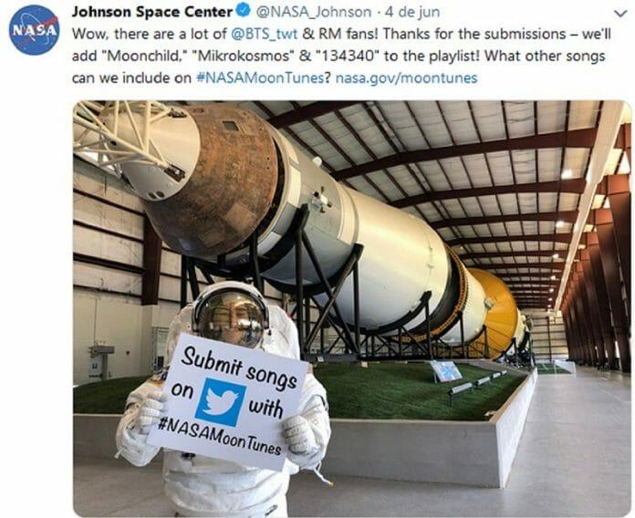 Vai Tocar Bts No Espaço!