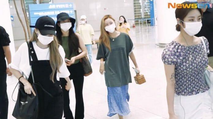 Mamamoo Escolhe Roupas Mais Confortáveis Para O Look De Aeroporto