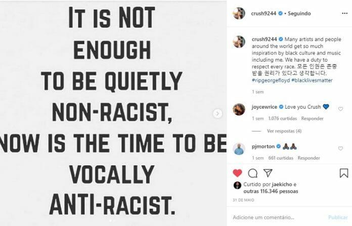 Artistas Do K-Pop Apoiam O Movimento Black Lives Matter