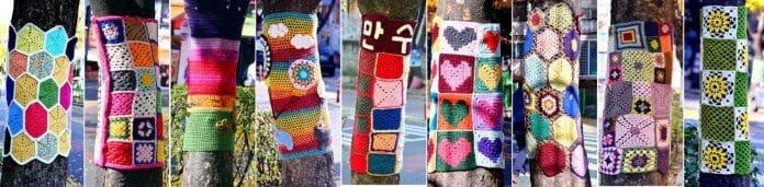 Moradores De Incheon &Quot;Agasalham&Quot; Árvores Com Tricô