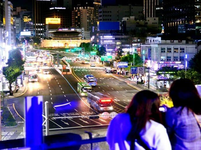 A Paisagem Noturna De Seul