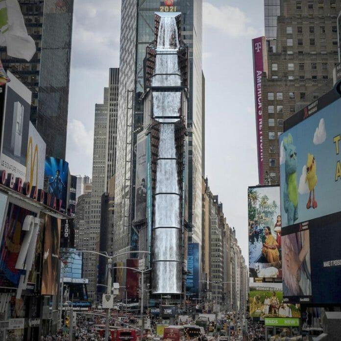 Artes Tridimensionais De Galeria Coreana São Mostradas Em Telão Na Times Square